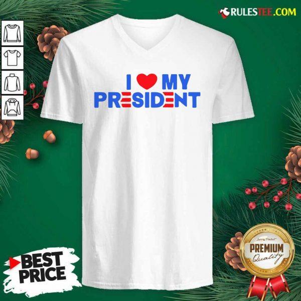 I Heart My President Unisex V-neck - Design By Rulestee.com