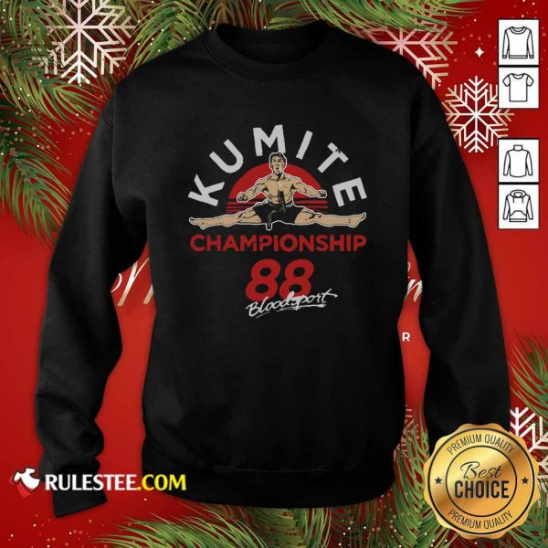 Kumite Championship 88 Bloodsport Sweatshirt - Design By Rulestee.com