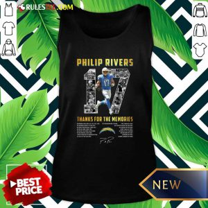 Los Angeles Chargers 17 Philip Rivers Thanks For The Memories 2021 Signature Tank Top - Design By Rulestee.com