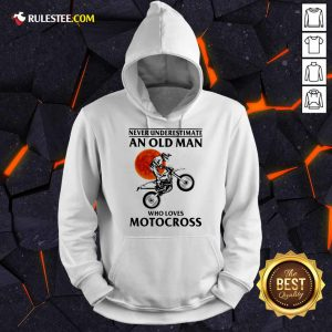 Never Underestimate An Old Man Who Loves Motocross The Moon Hoodie - Design By Rulestee.com