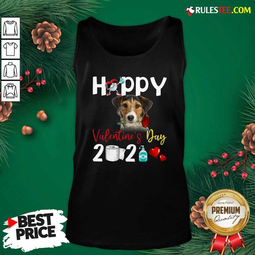Fox Terrier Happy Valentines Day With Toilet Paper 2021 Tank Top - Design By Rulestee.com