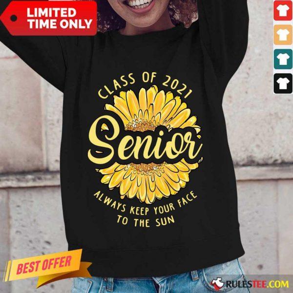 Amused Class Of 2021 Senior The Sun Long-sleeved