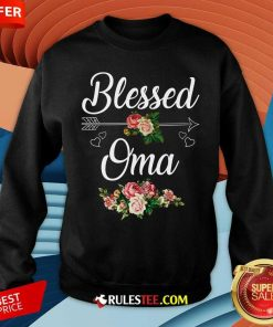 Blessed Oma Flower Mother Day Sweatshirt - Design By Rulestee.com