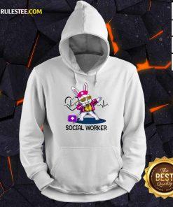 Delighted Bunny Nurse Dab Social Worker Hoodie