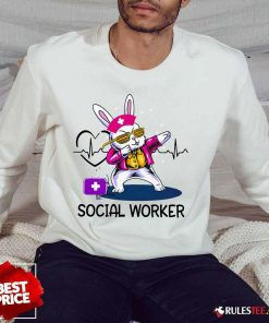 Delighted Bunny Nurse Dab Social Worker Sweater