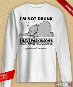 Delighted Elephant Drunk Have Lil Drunk Long-sleeved