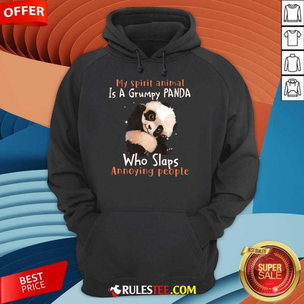 Enthusiastic Spirit Animal Grumpy Panda Hoodie
