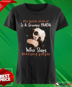 Enthusiastic Spirit Animal Grumpy Panda Ladies Tee