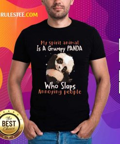 Enthusiastic Spirit Animal Grumpy Panda Shirt