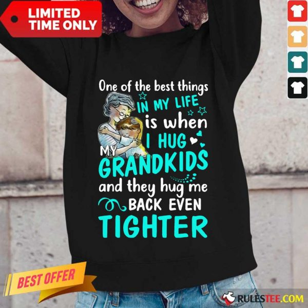 Excited One The Best Things Grandkids Long-sleeved
