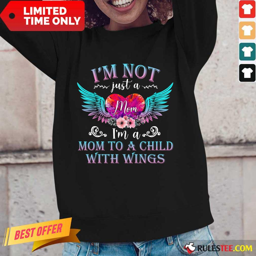 Funny I Am Not Just A Mom With Wings Long-Sleeved