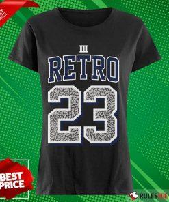 Funny Jordan 3 Retro 23 Georgetown Ladies Tee