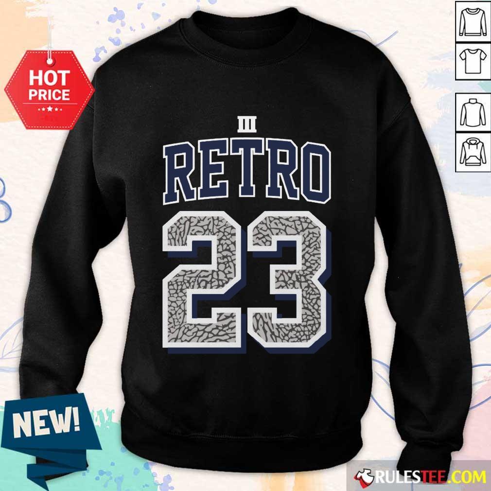 Funny Jordan 3 Retro 23 Georgetown Sweater