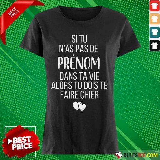 Hot Si Tu N As Pas De Juju Dans Ta Vie Alors Tu Dois Te Faire Chier Ladies Tee