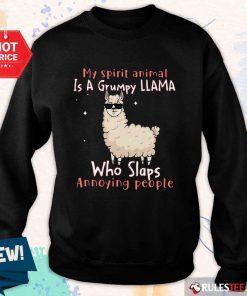Overjoyed Spirit Animal A Grumpy Llama Sweater