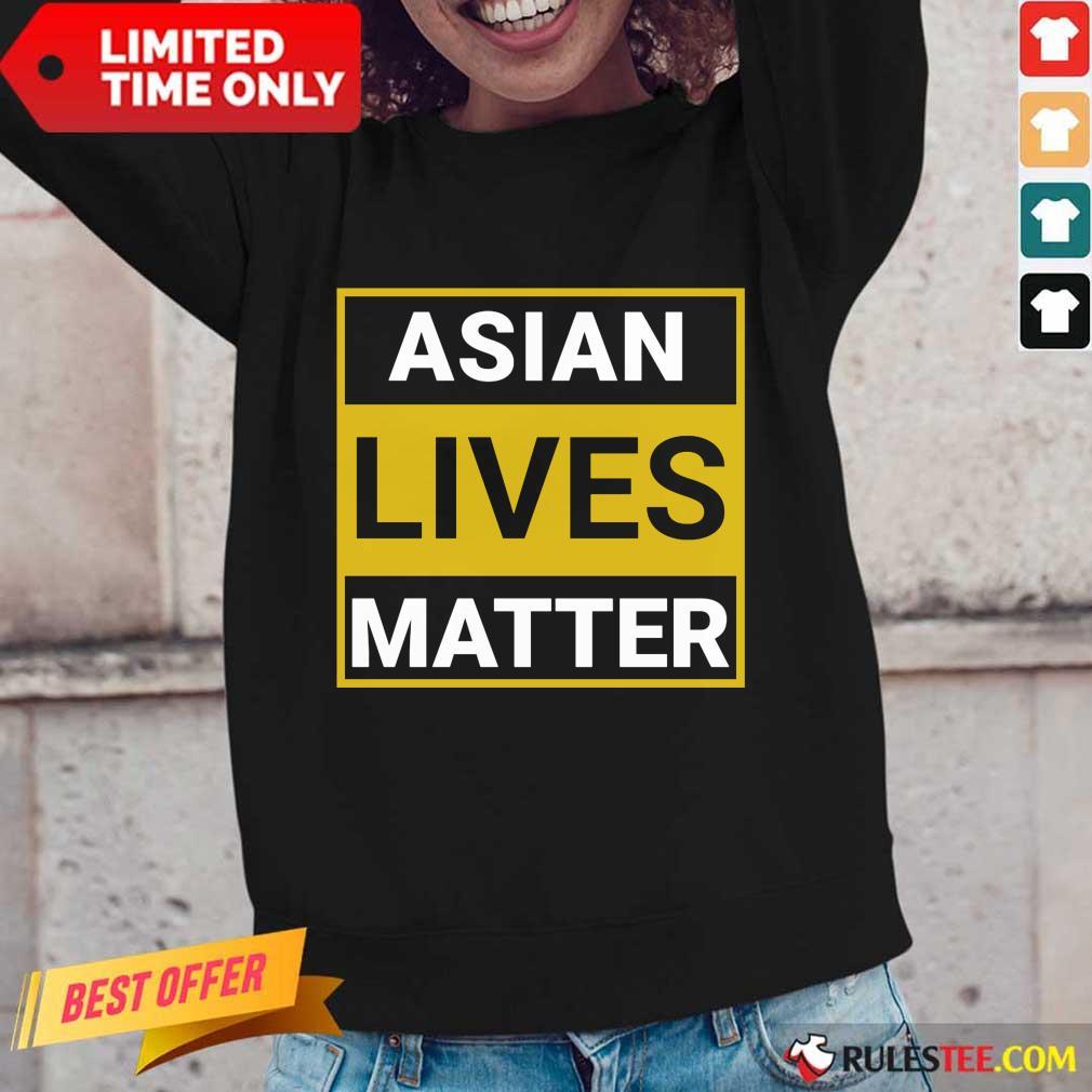 Overwhelmed Asian Lives Matter Long-sleeved