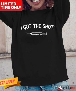 Positive Virus Vaccination Shot Vaccine Long-sleeved