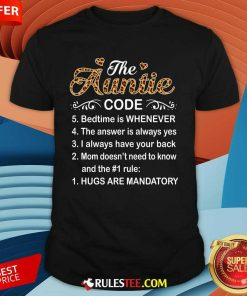 The Auntie Code Mothers Day Shirt - Design By Rulestee.com
