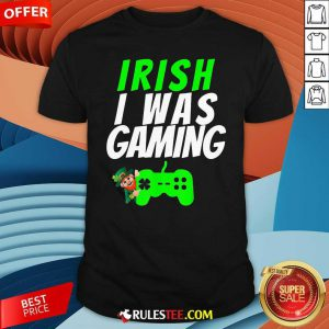 Video Gamer Saint Patricks Day Gaming St Pattys Day Shirt - Design By Rulestee.com