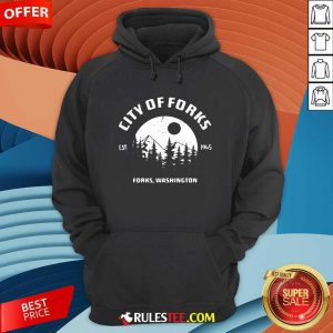 City Of Forks Forks Washington Est 1945 Hoodie - Design By Rulestee.com