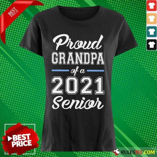 Pretty Proud Grandpa Of A 2021 Senior Ladies Tee