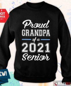 Pretty Proud Grandpa Of A 2021 Senior Sweater