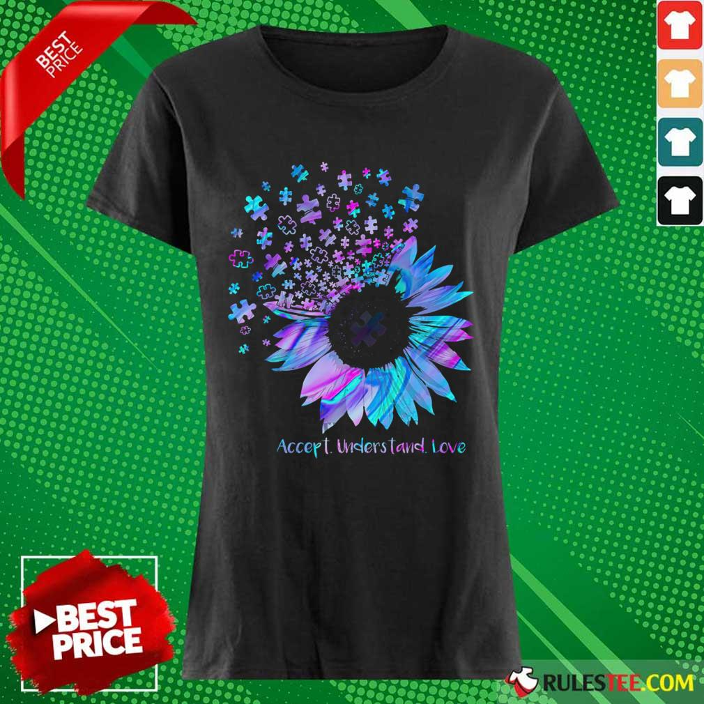 Relaxed Sunflower Accept Understand Ladies Tee