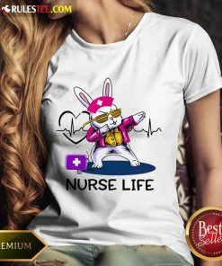Surprised Bunny Nurse Dab Nurse Life Ladies Tee