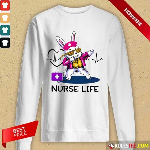 Surprised Bunny Nurse Dab Nurse Life Long-sleeved