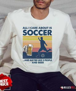 Surprised Care Soccer And Beer Vintage Sweater