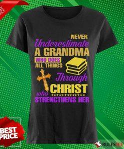 Surprised Underestimate A Grandma Her Ladies Tee