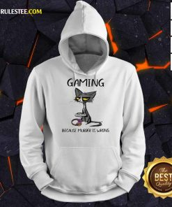 Terrific Black Cat Gaming Murder Wrong Hoodie