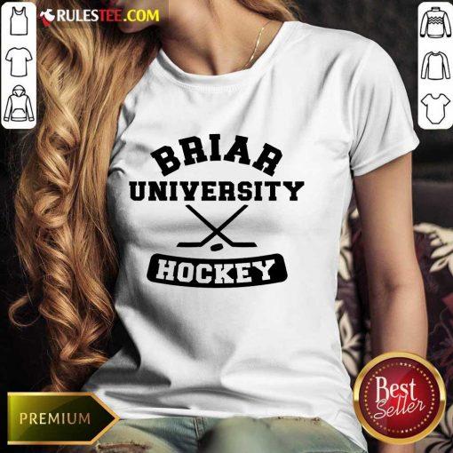 Top Briar University Hockey Ladies Tee