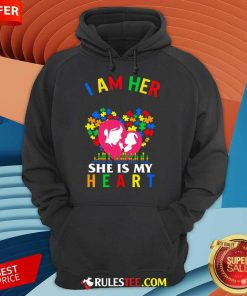 Top I Am Her Voice She Is My Heart Autism Hoodie