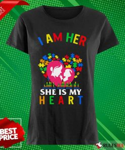 Top I Am Her Voice She Is My Heart Autism Ladies Tee