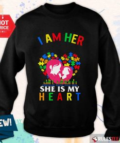 Top I Am Her Voice She Is My Heart Autism Sweater