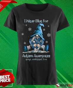 Top I Wear Blue For Autism Awareness Ladies Tee