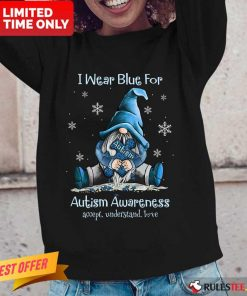 Top I Wear Blue For Autism Awareness Long-Sleeved