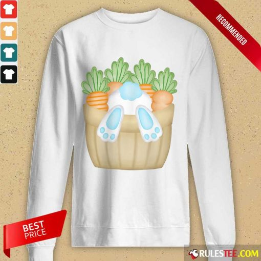 Cute Easter Bunny Cottontail Carrot Basket Long-Sleeved