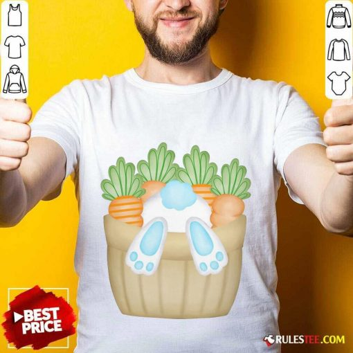 Cute Easter Bunny Cottontail Carrot Basket Shirt