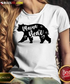 Funny Mama Bear Mothers Day Ladies Tee