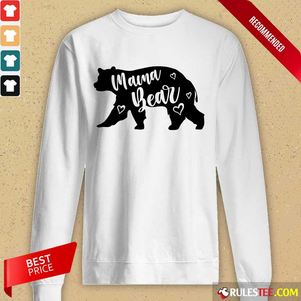 Funny Mama Bear Mothers Day Long-Sleeved