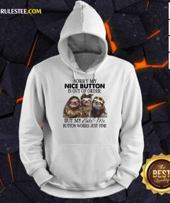 Good Sloth Sorry My Nice Button Is Out Of Order But My Bite Me Button Works Just Fine Hoodie