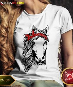 Happy Horse Mom Happy Mothers Day Red Headband Ladies Tee