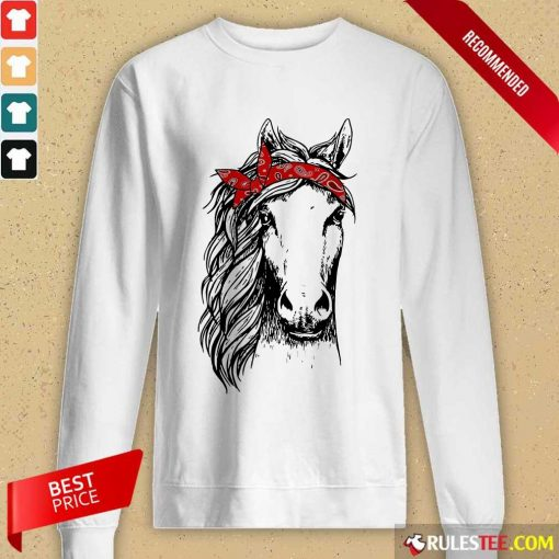 Happy Horse Mom Happy Mothers Day Red Headband Long-Sleeved