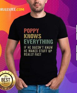 Hot Poppy Knows Everything Vintage Shirt