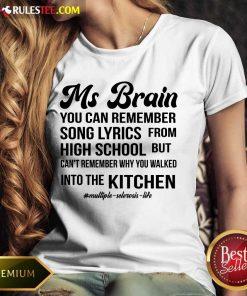 Nice Ms Brain You Can Remember Song Lyrics Ladies Tee