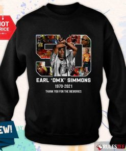 Perfect 50 Earl DMX Simmons 1970-2021 Thank You For The Memories Signature Sweate