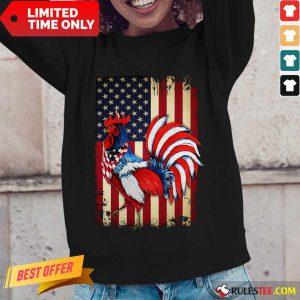 Premium Chicken Flag American Long-Sleeved