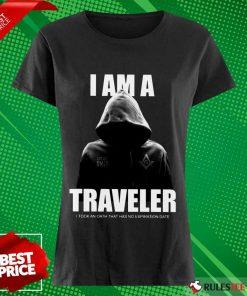Premium I Am A Traveler Ladies Tee